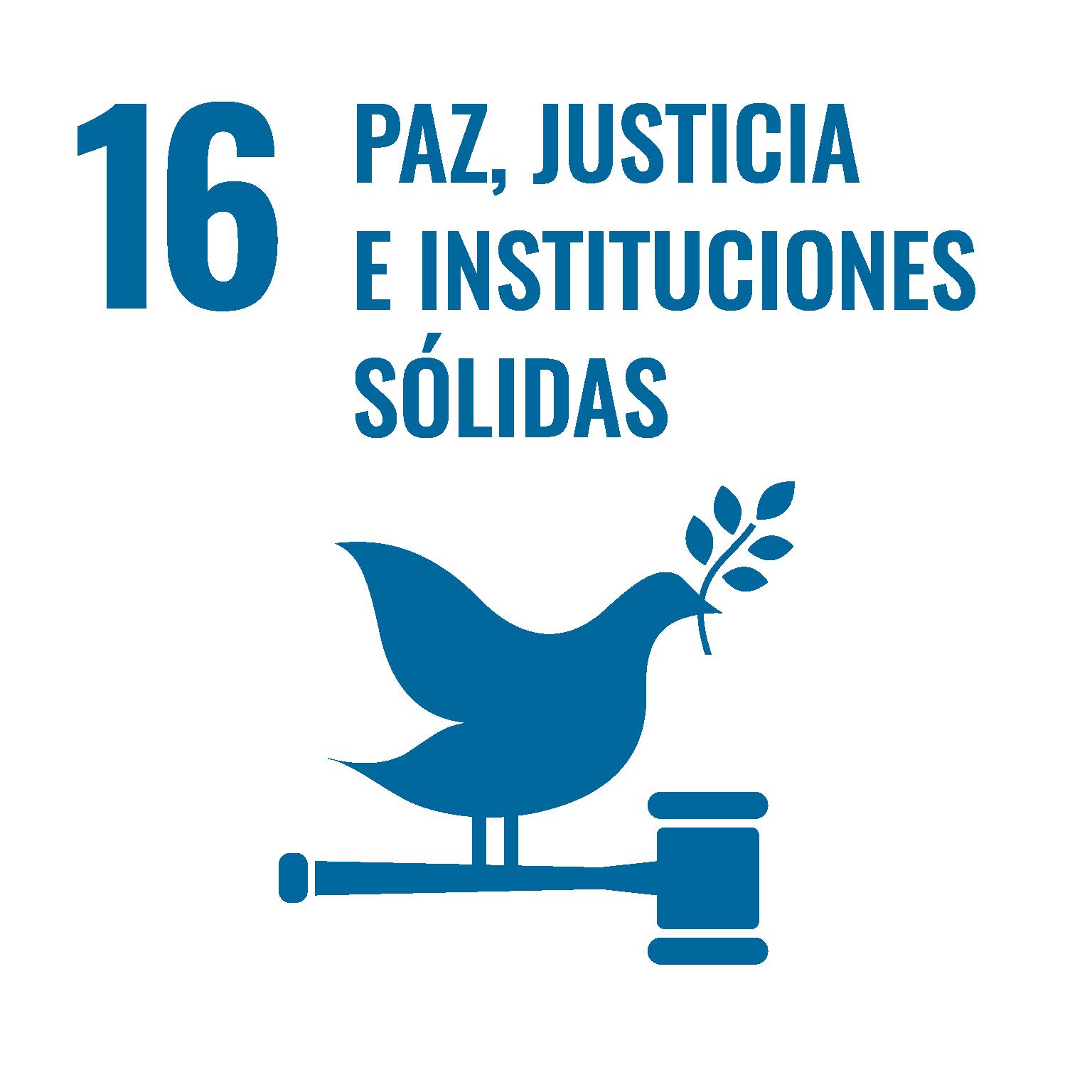 Paz, Justicia, Instituciones sólidas